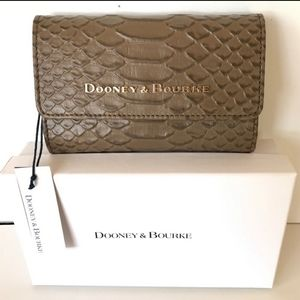 Dooney and Bourke Python Embossed flap